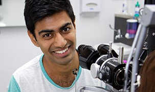 Image of a student optometrist facing the camera