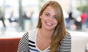 Image of student smiling at the camera